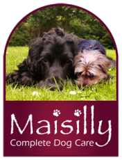 Dogs on the Maisilly logo